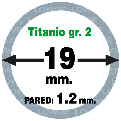 Tubo 1 metro de TITANIO gr. 2 ASTM B338 en diámetro 19 mm. Grosor pared: 1,2 mm. - Tubo 1 metro de TITANIO gr. 2 ASTM B338 en diámetro 19 mm. Grosor pared: 1,5 mm.