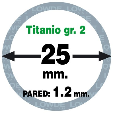 Tubo 1 metro de TITANIO gr. 2 ASTM B338 en diámetro 25 mm. Grosor pared: 1,2 mm. - Tubo 1 metro de TITANIO gr. 2 ASTM B338 en diámetro 25 mm. Grosor pared: 1,2 mm.