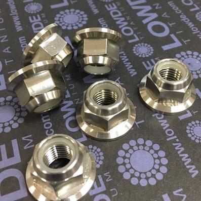 Tuerca DIN 6923 M5 autoblocante de titanio gr. 5 (6Al4V) - Tuerca DIN 6923 M5 autoblocante de titanio gr. 5 (6Al4V)