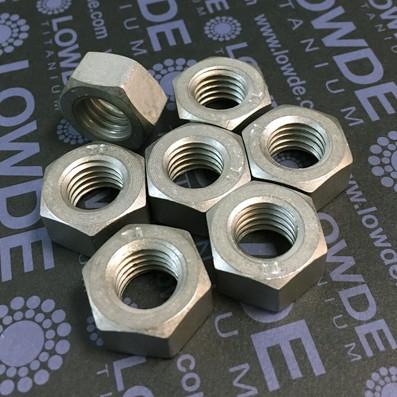 Tuerca DIN 934 M12 de titanio gr. 2 (puro) - Tuerca DIN 934 M12 de titanio gr. 2 (puro)