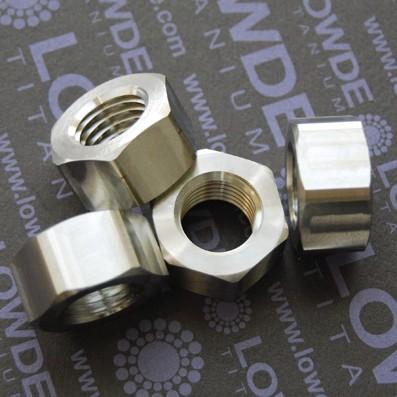 Tuerca DIN 934 M16x2,00 de titanio gr. 5 (6Al4V)