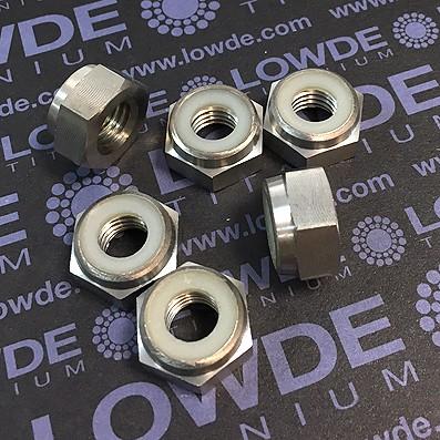 Tuerca DIN 985 M10x1,50 autoblocante de titanio gr. 2 - Tuerca DIN 985 M10x1,50 autoblocante de titanio gr. 2