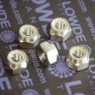 Tuerca DIN 982 M8 autoblocante de titanio gr. 5 (6Al4V)