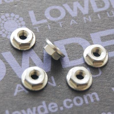 Tuerca DIN 6923 M3 de titanio gr. 5 (6Al4V) - Tuerca DIN 6923 M3 de titanio gr. 5 (6Al4V)