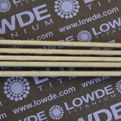 Varilla roscada M4x0,70x1000 mm. de titanio gr. 2 - Varilla roscada M4x1.000 mm. de titanio gr. 2 Paso de rosca de 0,70 (el habitual en métrica 4) Titanio gr. 2.